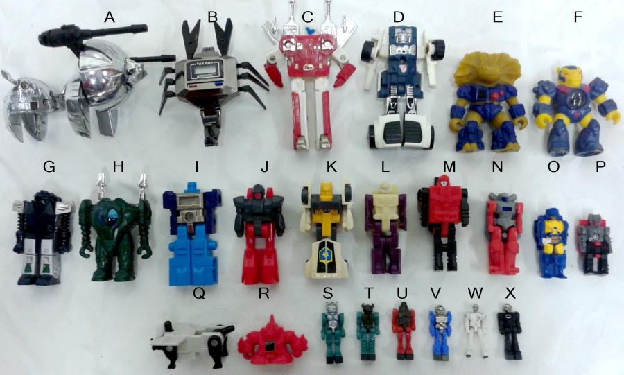 Takara Vintage Mini Figure Identification Chartc Diaclone G1 Transformers Micro Man copy